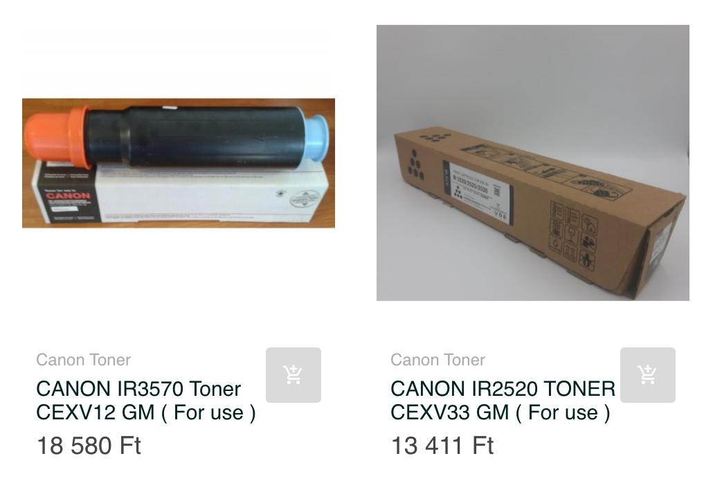 canon utángyártott toner